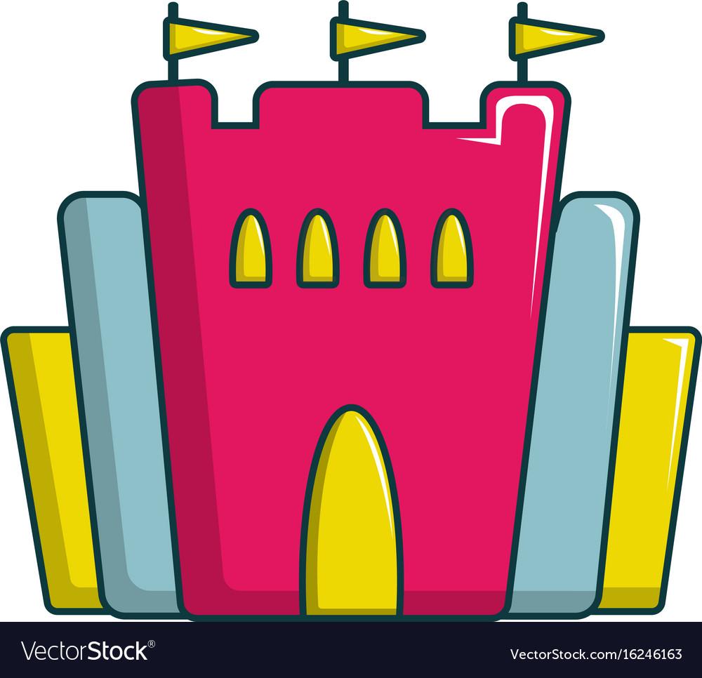 Princess castle icon cartoon style