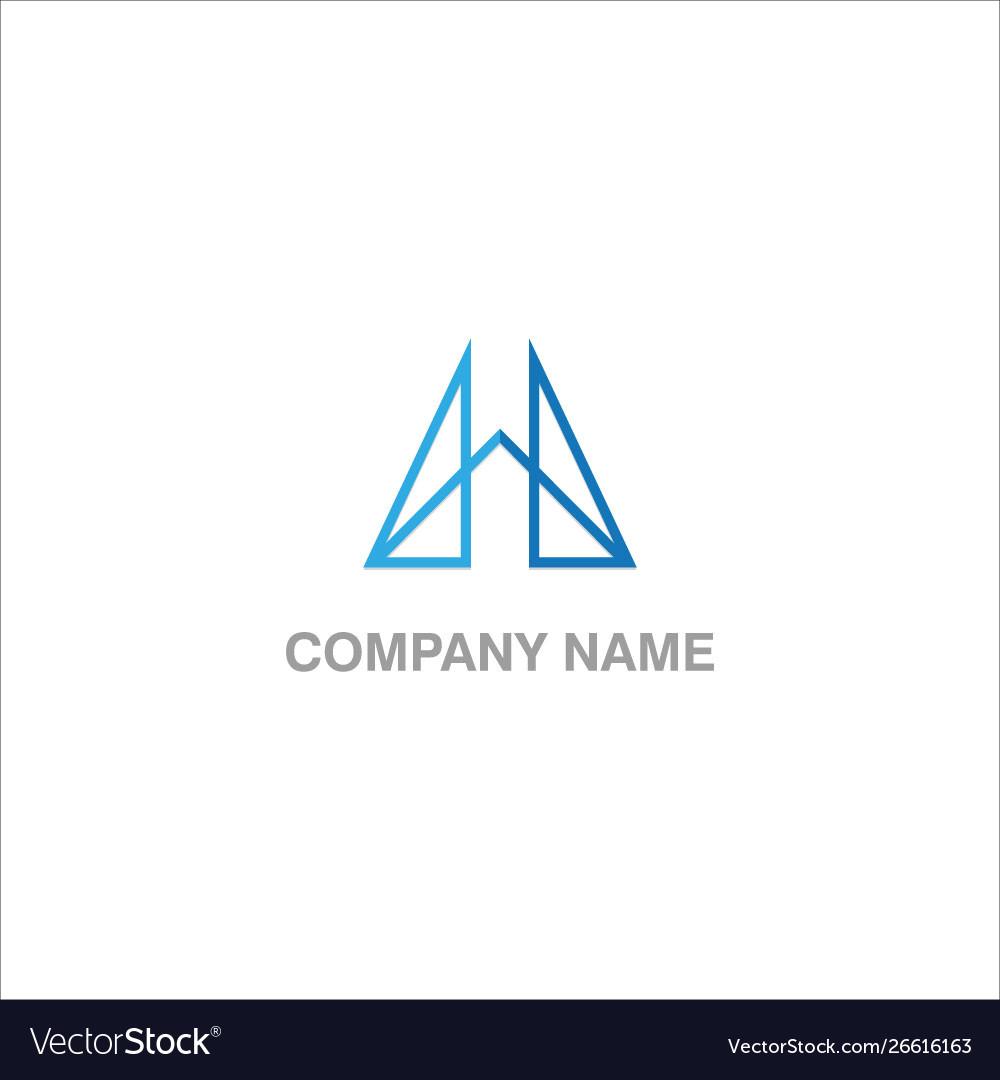 Shape line design company logo