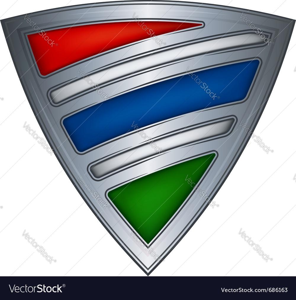 Steel shield gambia vector image