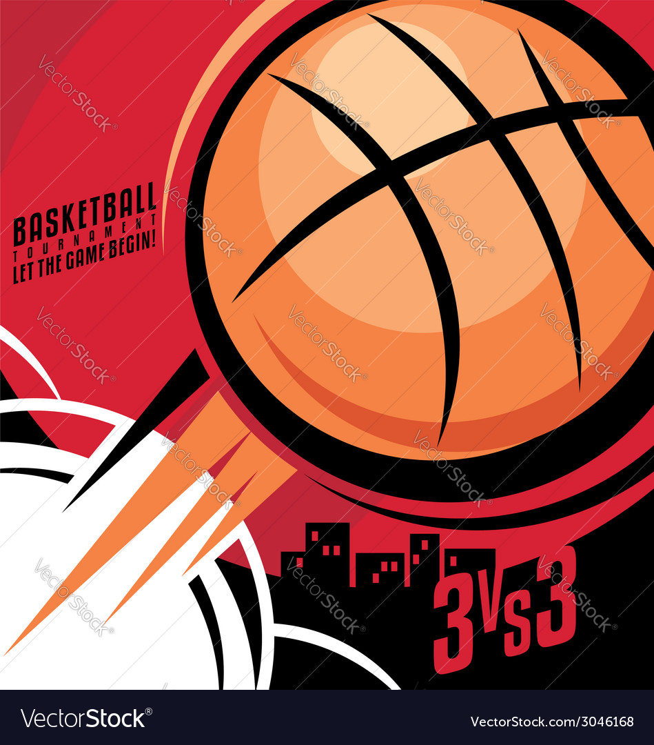 basketball poster design royalty free vector image