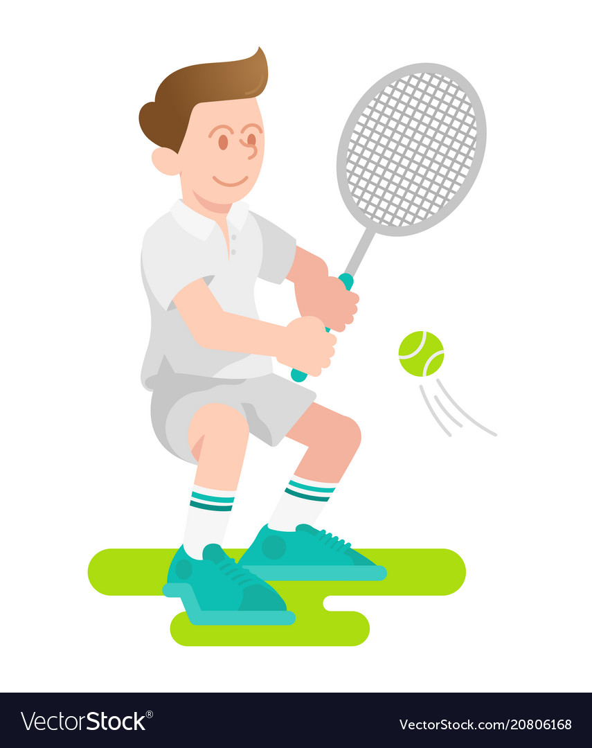Boy play a tennis
