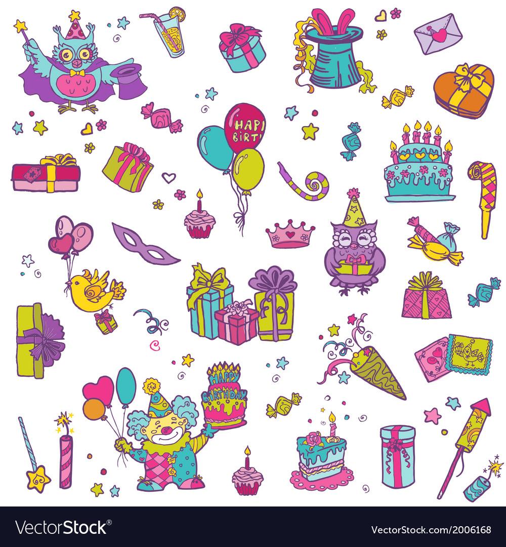Hand drawn Birthday Celebration Design Elements