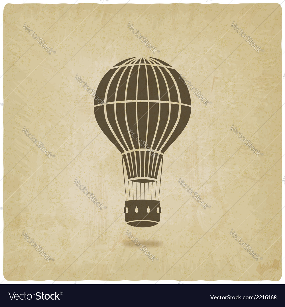 Hot air balloon old background