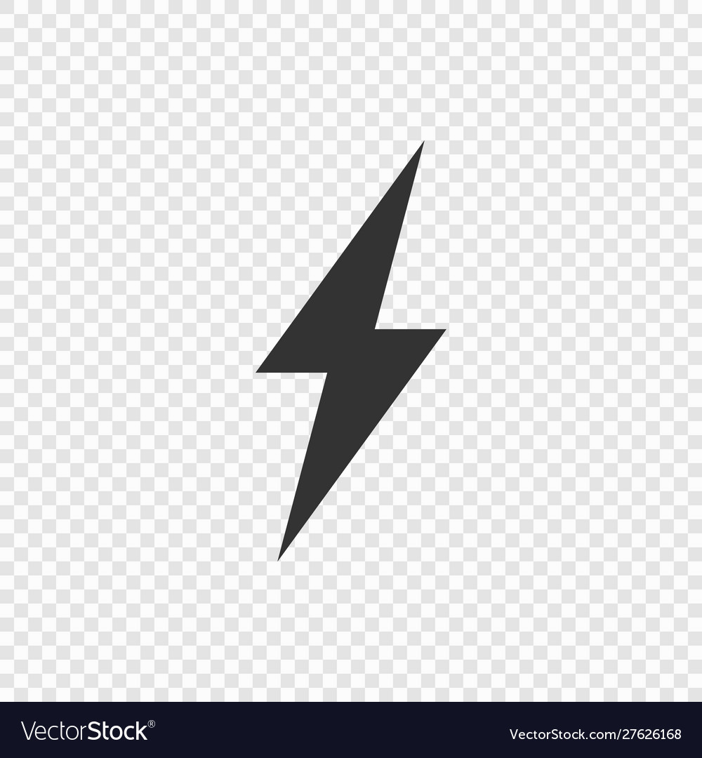 Lightning or electric power icon