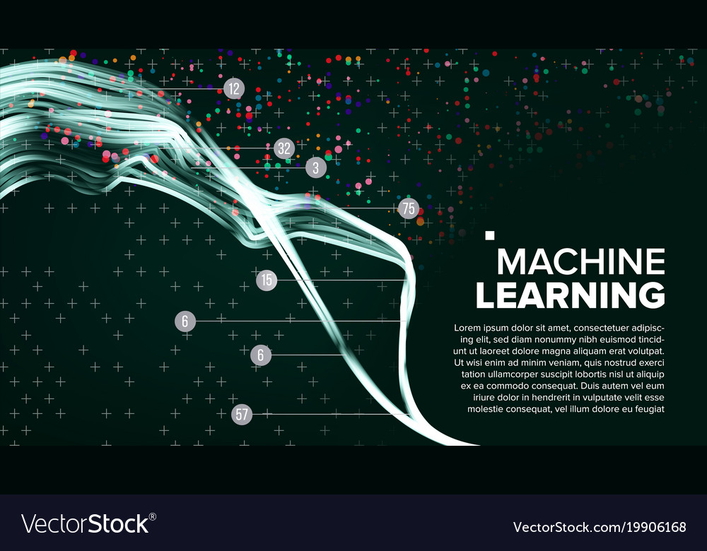 Machine Learning Background Analytics Royalty Free Vector