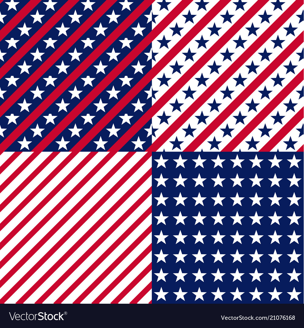 Us stars and stripes seamless patterns