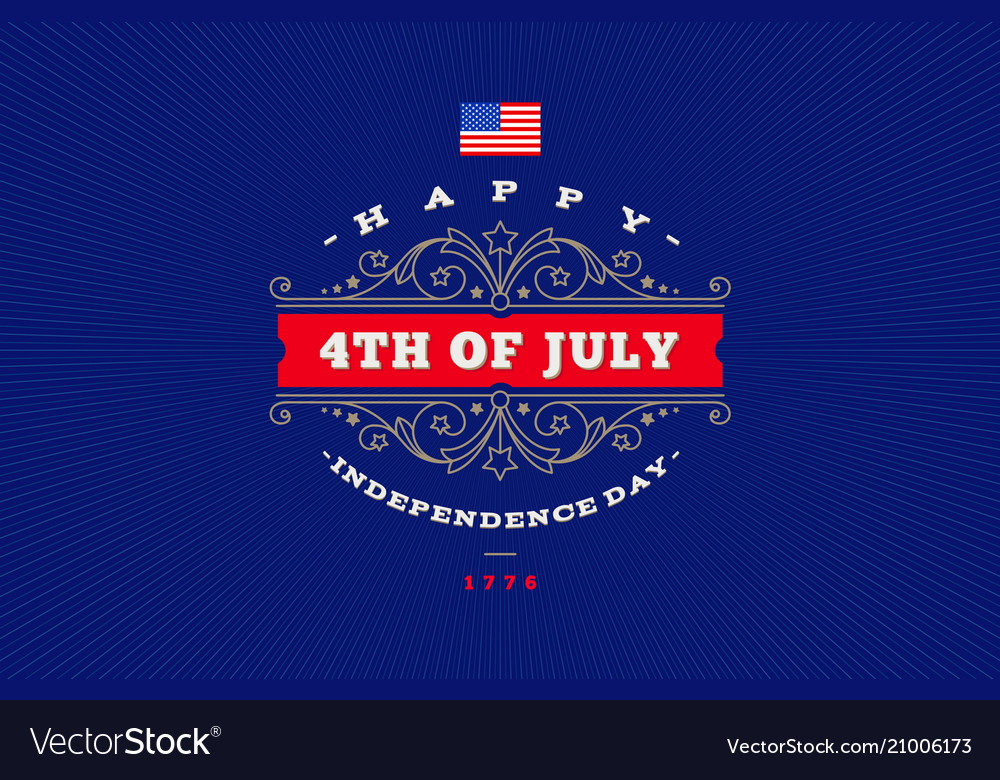 4th july independence day - greeting design
