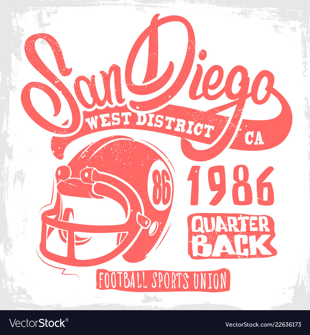 American football graphic print design for t