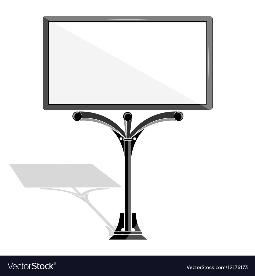 Blank billboard advertising modern vector image