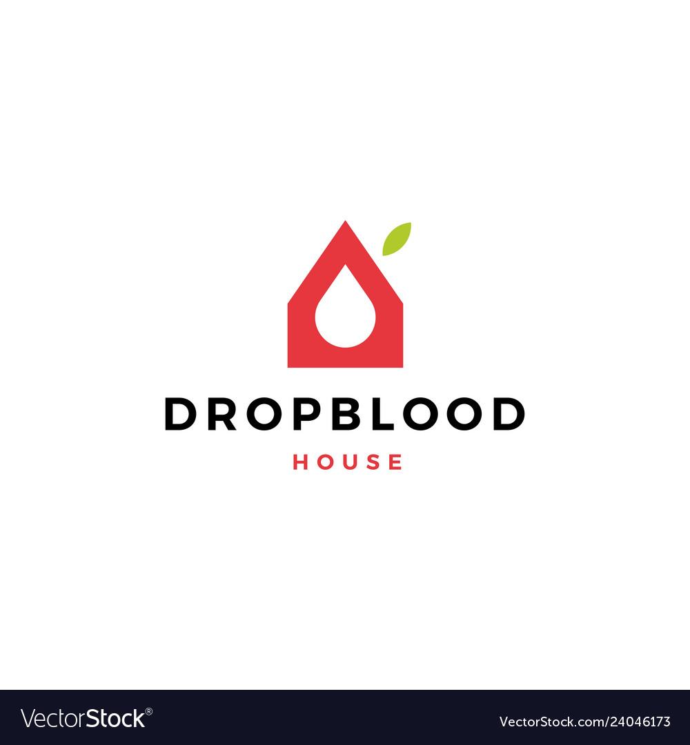 Blood donation house logo icon