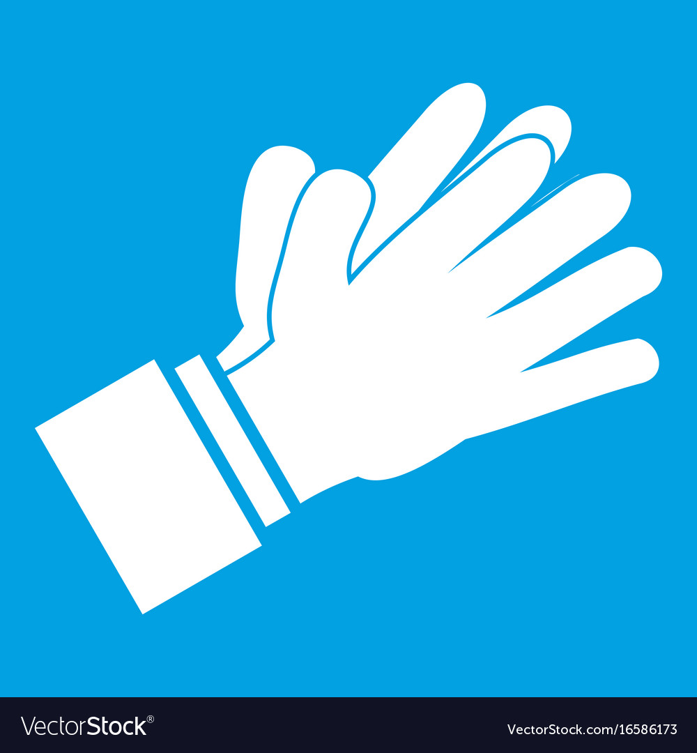 Clapping applauding hands icon white