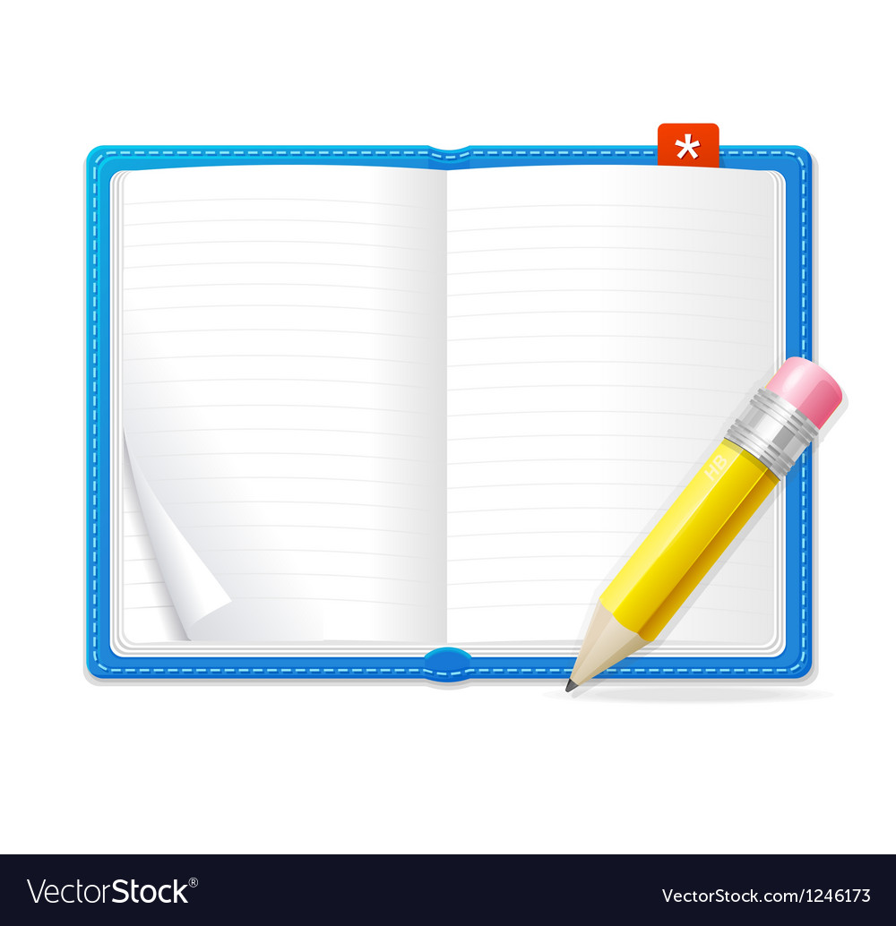 Empty open book