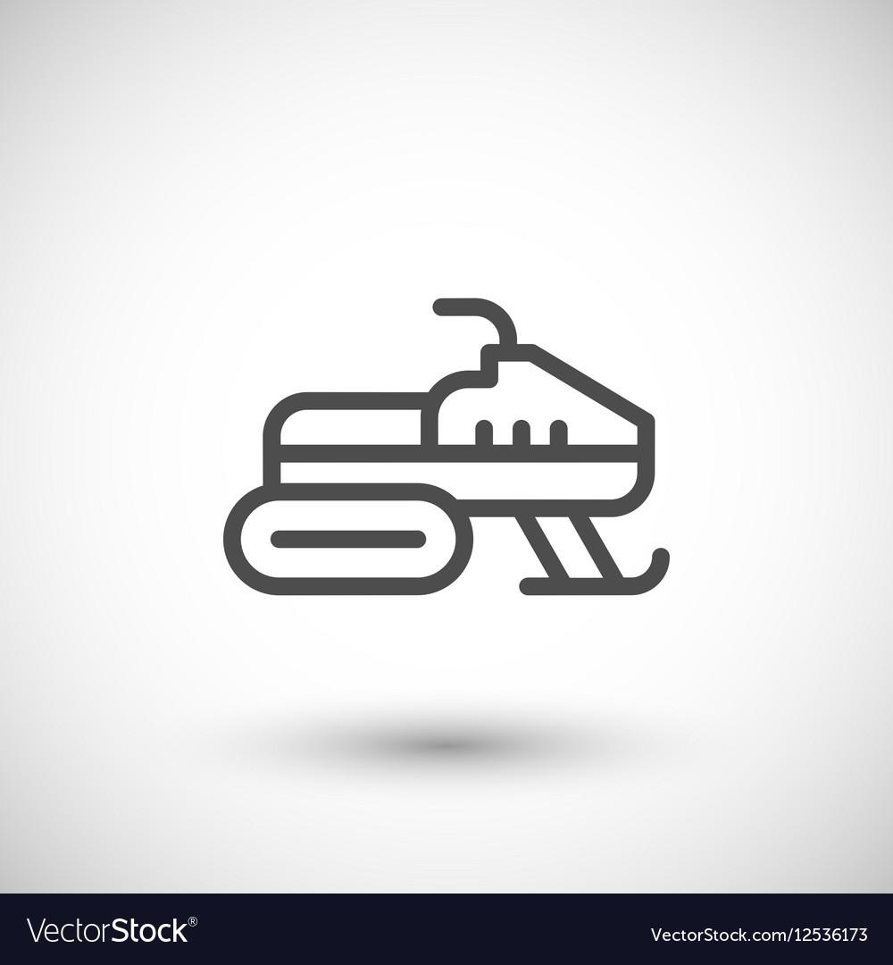 Snowmobile line icon