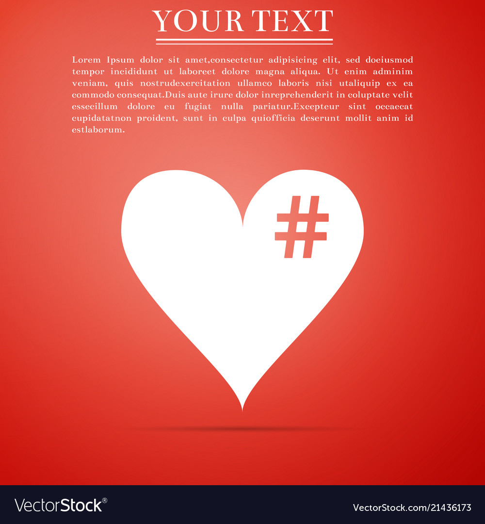 The hash love icon hashtag heart symbol icon