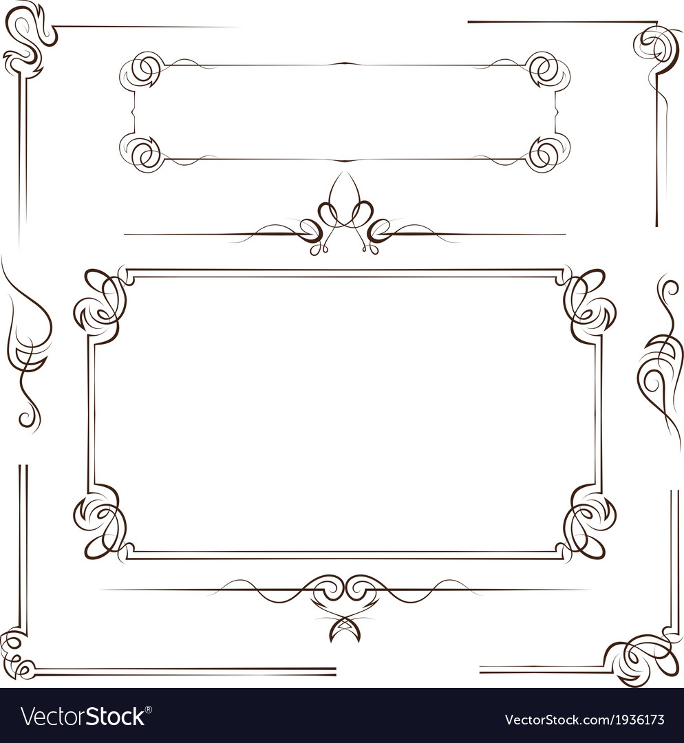 Vintage multilayer set frame vector image