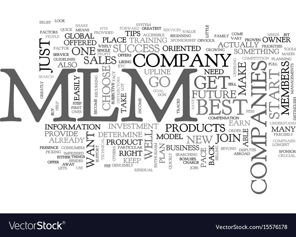 Best mlm companies tips for your success text