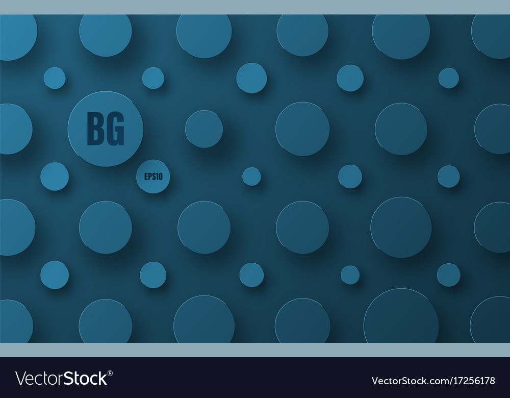 Blue background template with circles of