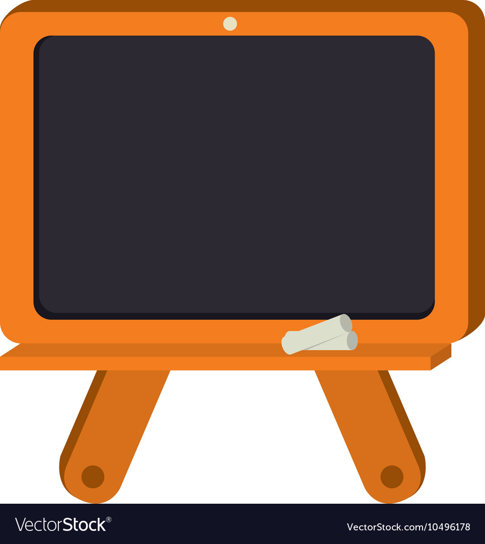 Board chalkboard school isolated vector image
