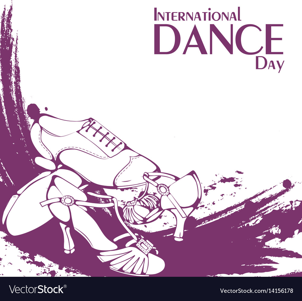 Dance day ballroom latina shoes vector image