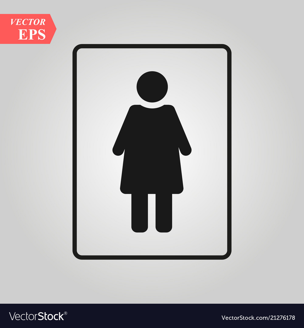 Female icon woman toilet icon sex