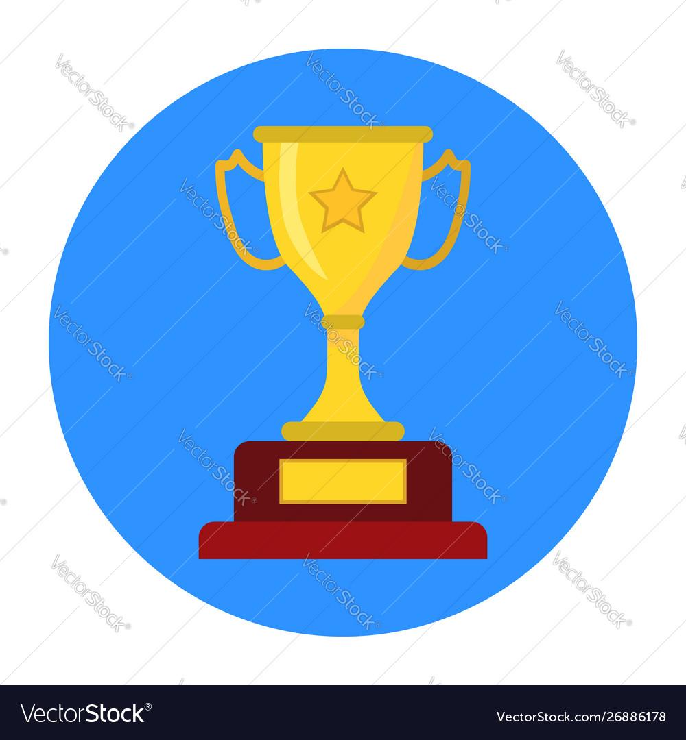 Golden trophy winners cup