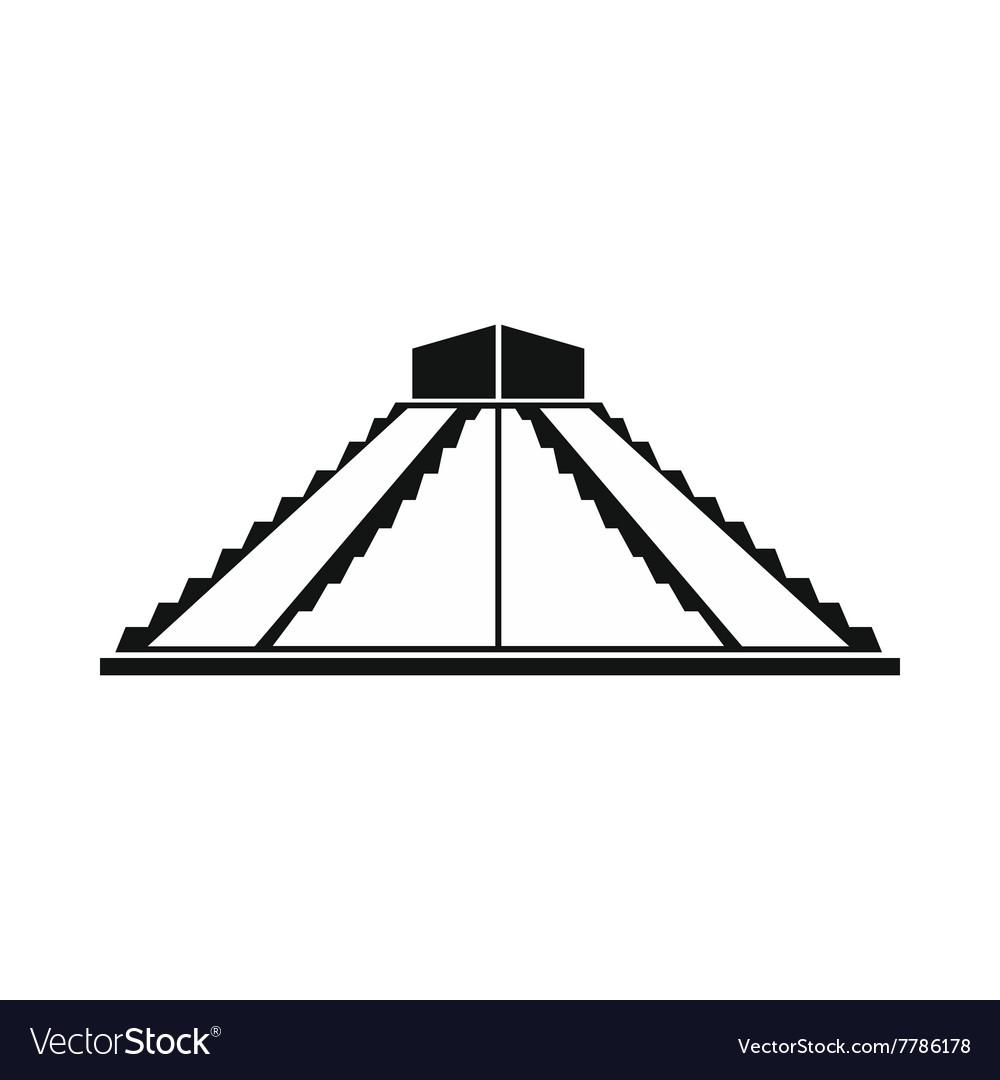 Mayan pyramid in Yucatan Mexico icon