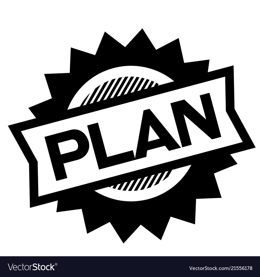 Plan black stamp Vector Image