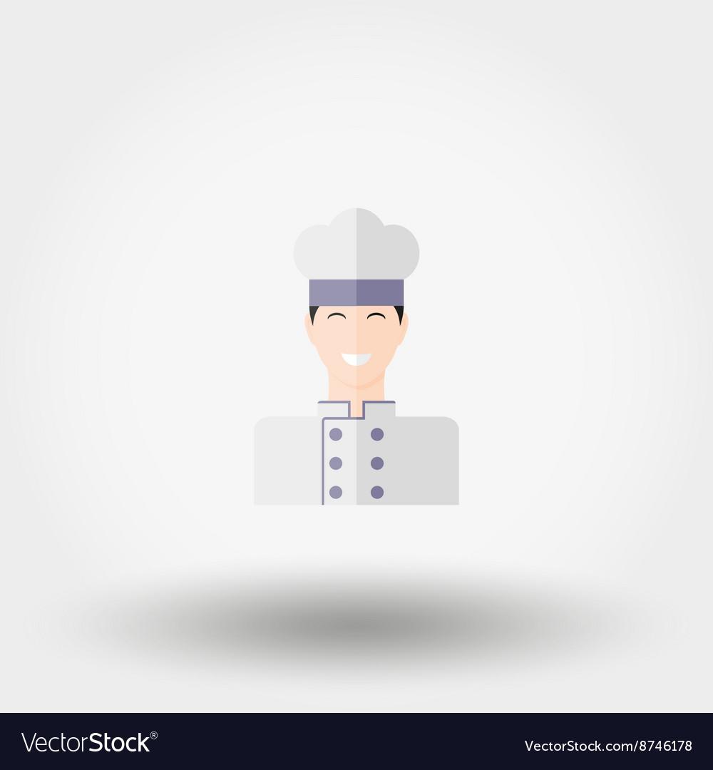 Professional chef Icon Flat