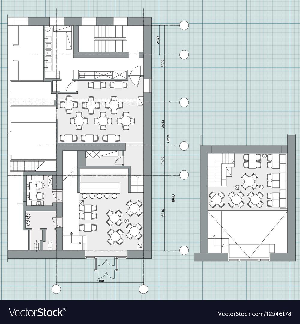 symbols on floor plans Vector Image
