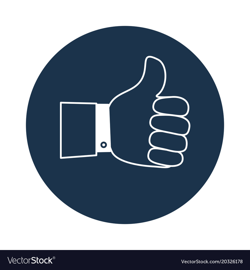 Thumb Up Symbol Finger Up Icon Royalty Free Vector Image