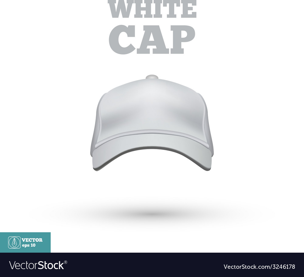 White Cap isolated on white