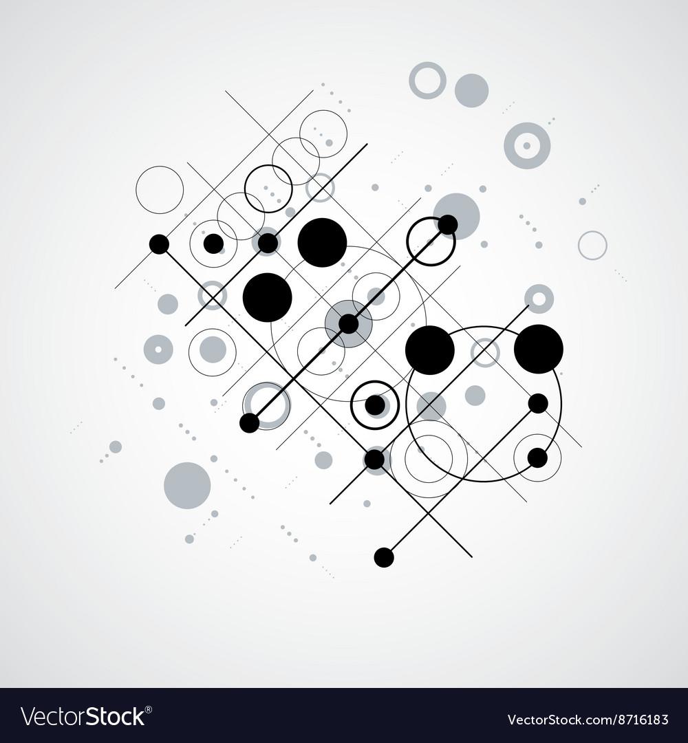 Bauhaus Retro Wallpaper Art Black And White