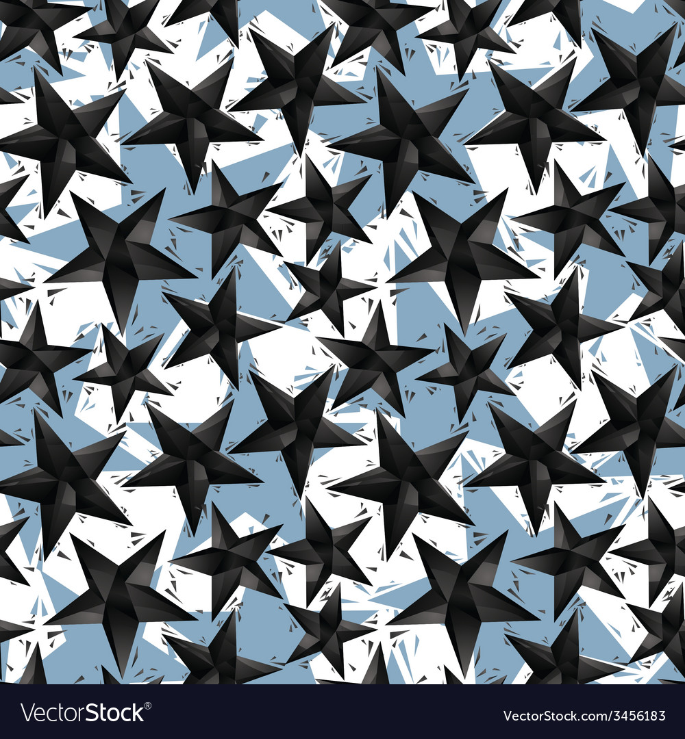 Black stars seamless pattern geometric