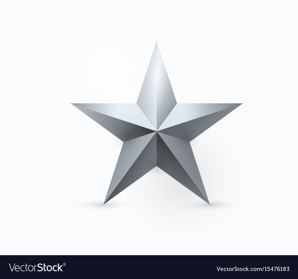 Five-pointed metal star