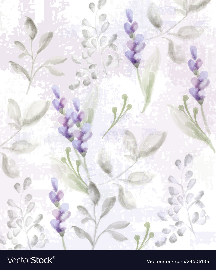 Lavender pattern watercolor provence