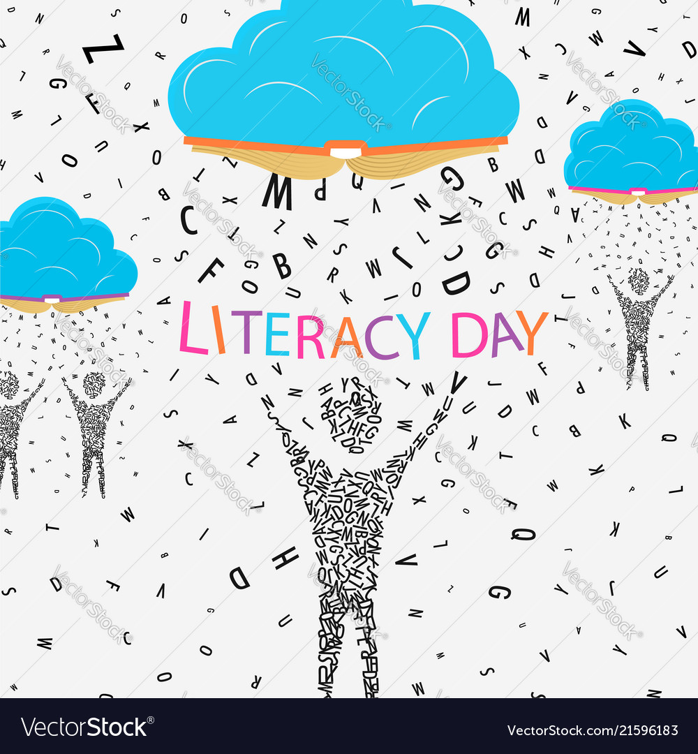 Literacy day concept for children education