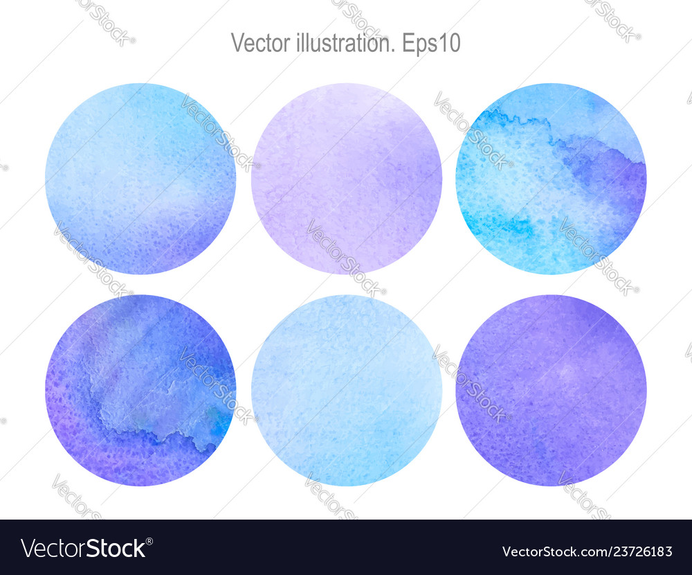 Set round watercolor backgrounds