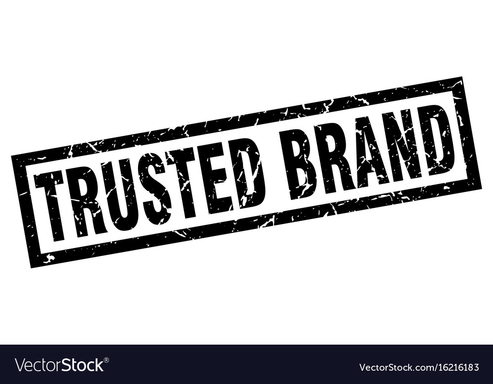 Square grunge black trusted brand stamp vector image