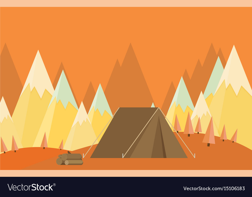 Vintage background with forest mountains and hills