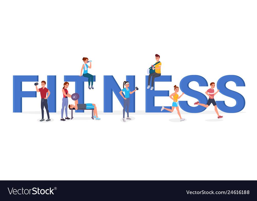 Fitness big letters flat