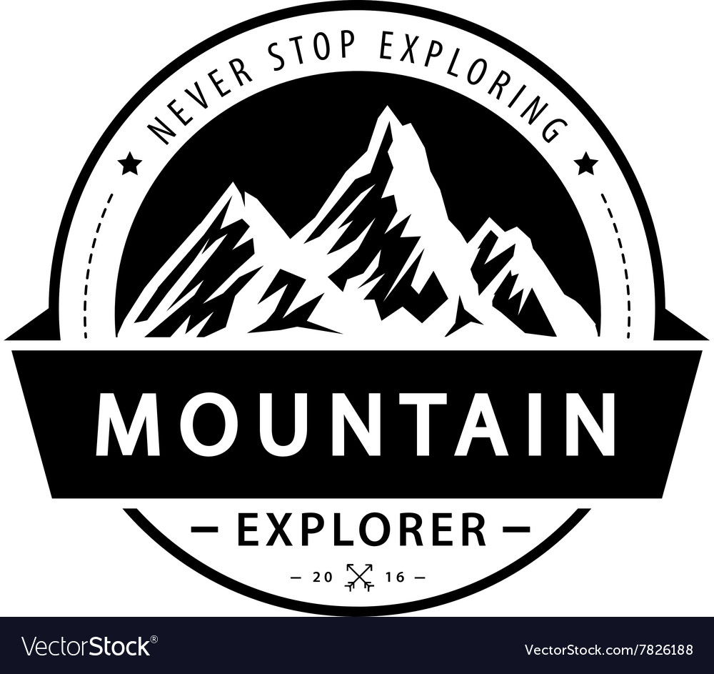 Mountain logo emblem Adventure retro