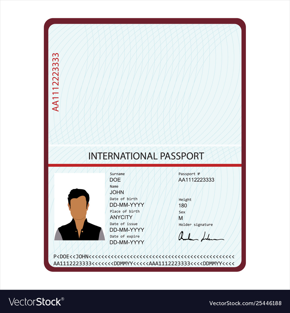 Passport identification document