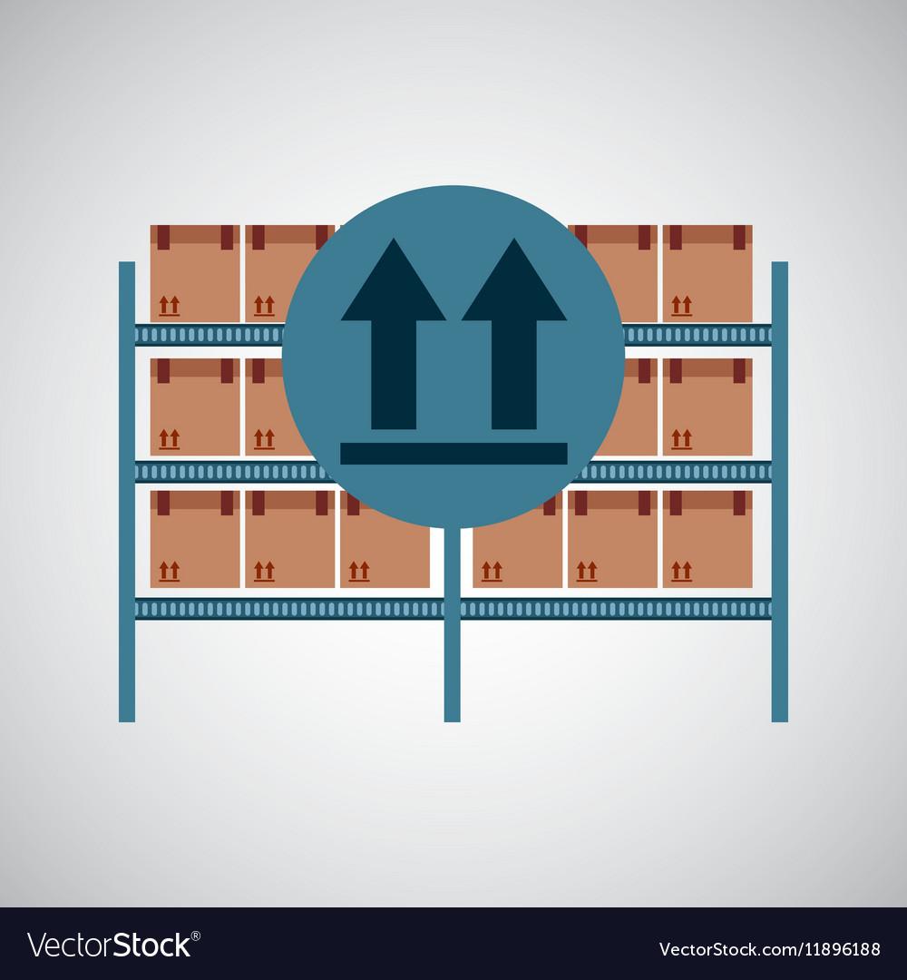 Warehouse box fragil symbol