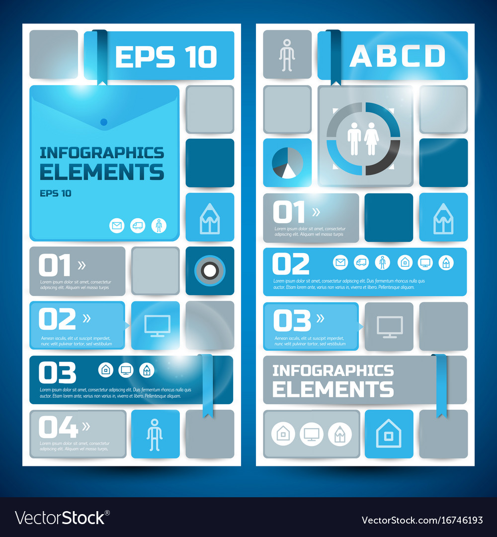 Abstract geometric infographic vertical banners vector image