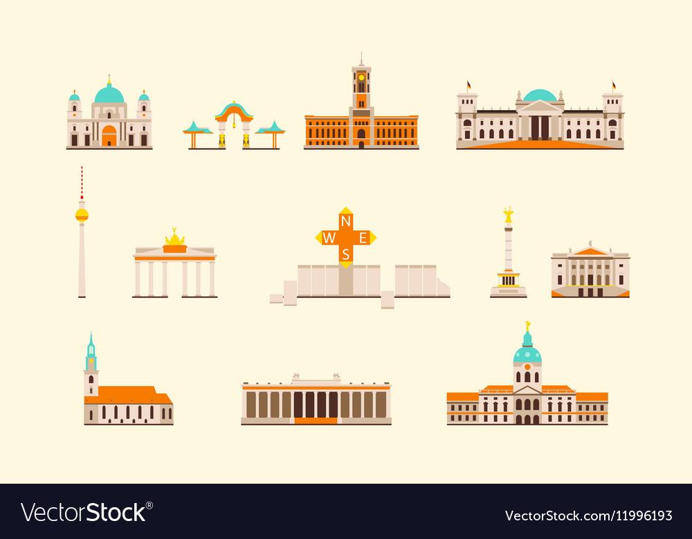 Berlin historical building vector image