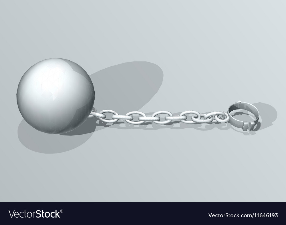 Convict ball and chain vector image