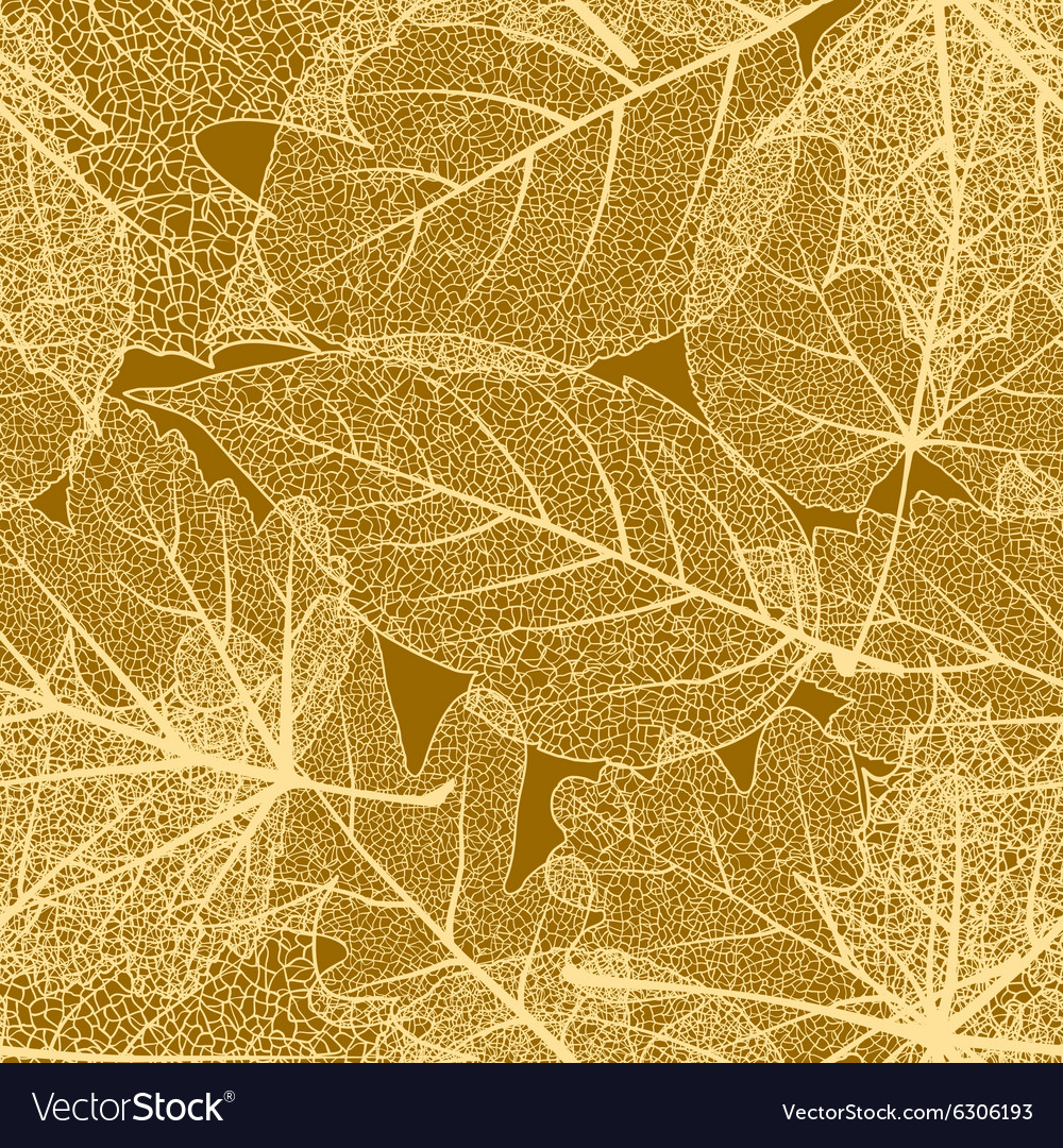 Detailed leaves seamless background eps 10