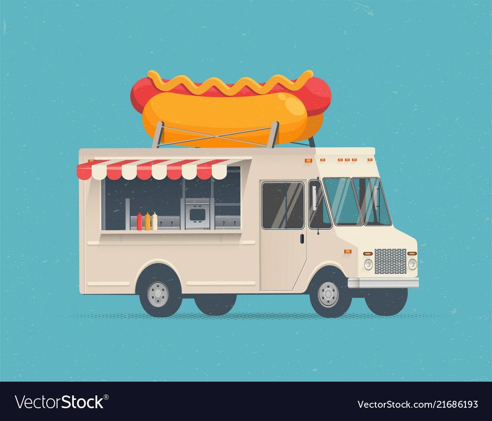 Hot dog street food truck