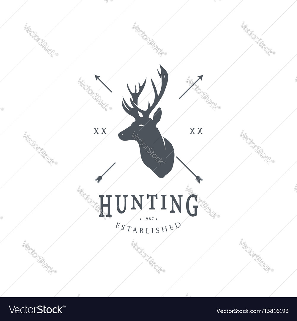 Hunting logo template