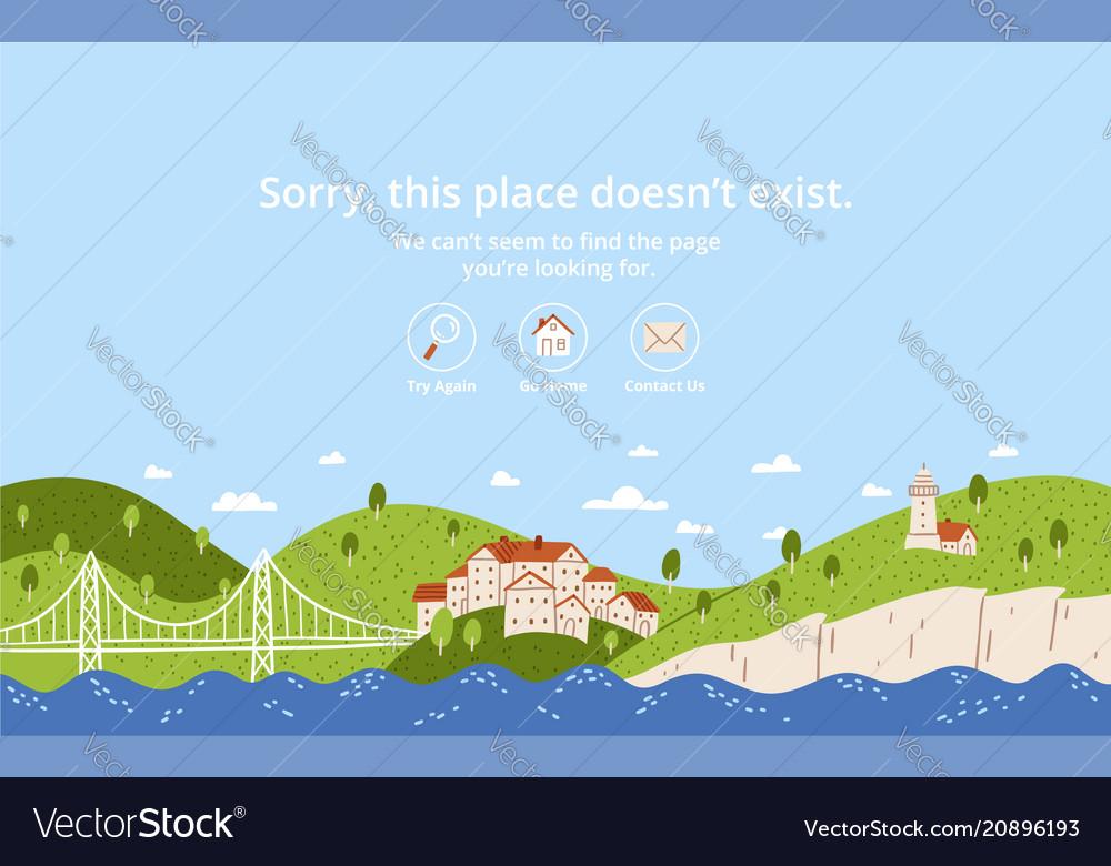 Landscape error page